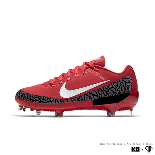 "100cafc42c961 KDxEM WEEK 16  ""Air Jordan Retro 3"" Nike Air Clipper 17 Metal Baseball  Cleats. Iconic on the court"