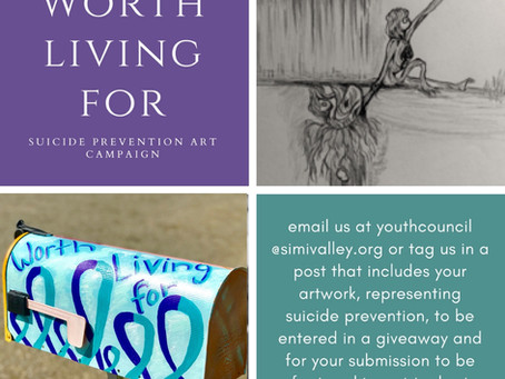 Submissions Sought for Simi Valley Youth Council's WORTH LIVING FOR Suicide Prevention Art Campaign