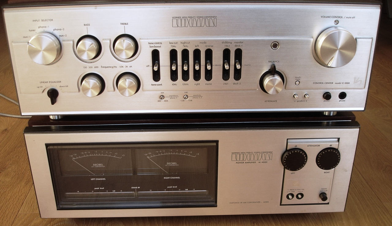 Luxman pre and power amplifier
