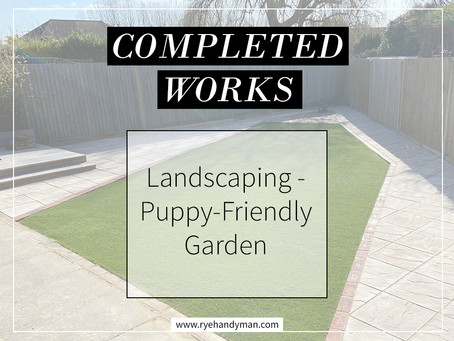 Completed Works: Puppy-Friendly Garden