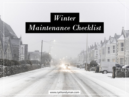 Winter Maintenance Checklist