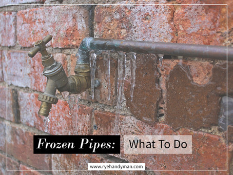 Frozen Pipes: What To Do