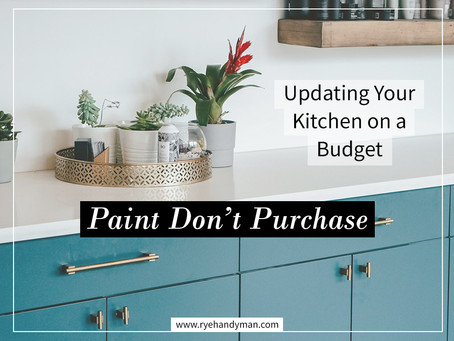 Paint Don't Purchase - Updating Your Kitchen On A Budget