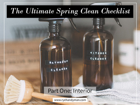 The Ultimate Spring Clean Checklist (Part 1 - with Free Printable!)