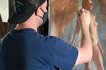 artist painting figure