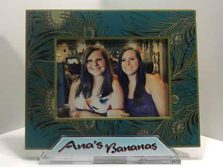 Solid customized SeaClutch on a decorative frame