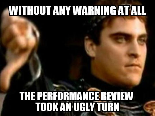 Funny meme about performance