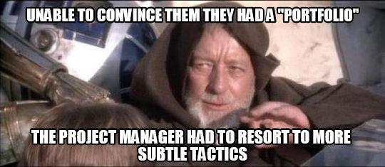 Funny meme on portfolio management