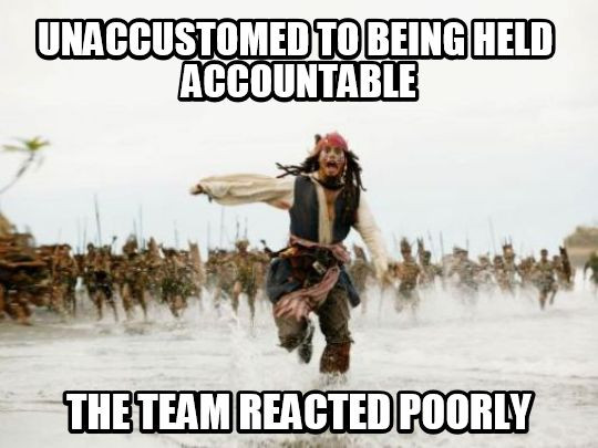 Funny meme about accountability