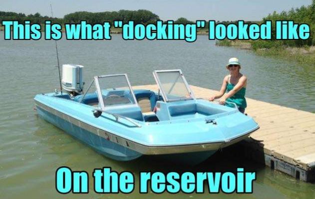 Lazy days on the reservoir...