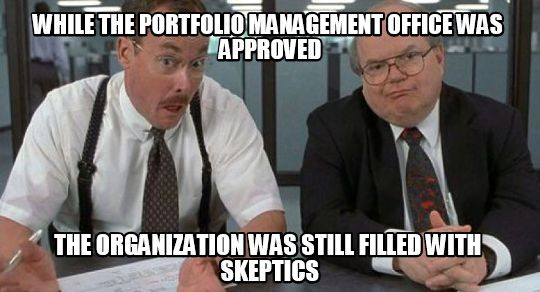 The difficulties in standing up a Portfolio Management Office