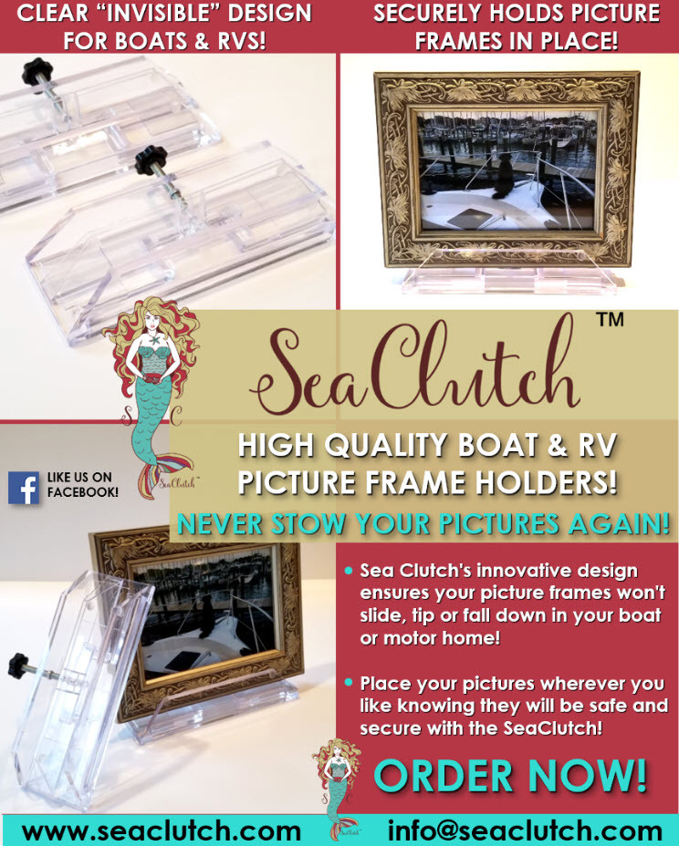 SeaClutch boat, yacht and RV picture frame holder