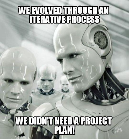 Funny meme about agile project management