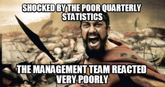 Funny meme about management