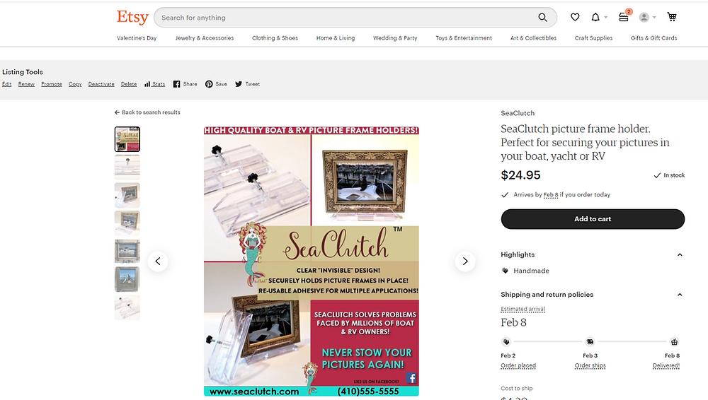 SeaClutch, Etsy