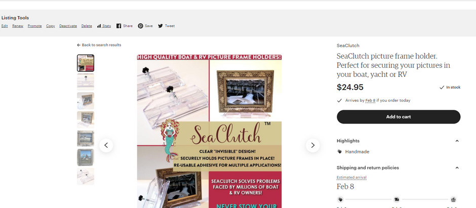SeaClutch is now on Etsy!