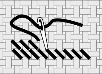 В какую сторону вышивать полукрест?