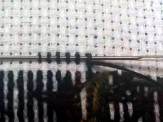 Закрепление нити в конце вышивки