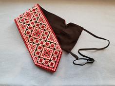 Вышитый крестиком галстук, схема, МК
