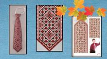 Вышитые крестиком галстуки, схемы