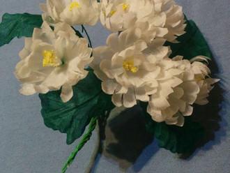Ромашки, цветы из ткани, МК