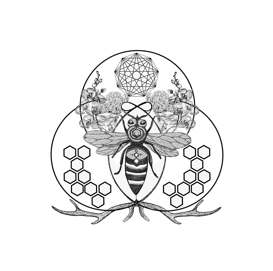 Mostly transprent(no Text) The Honeybee