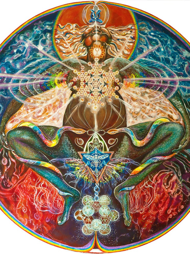 COSMIC MOTHER BIRTHING RAINBOW BODY INTO FORM