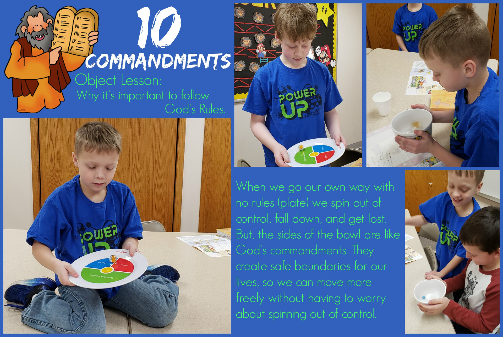 10 Commandments Object Lesson