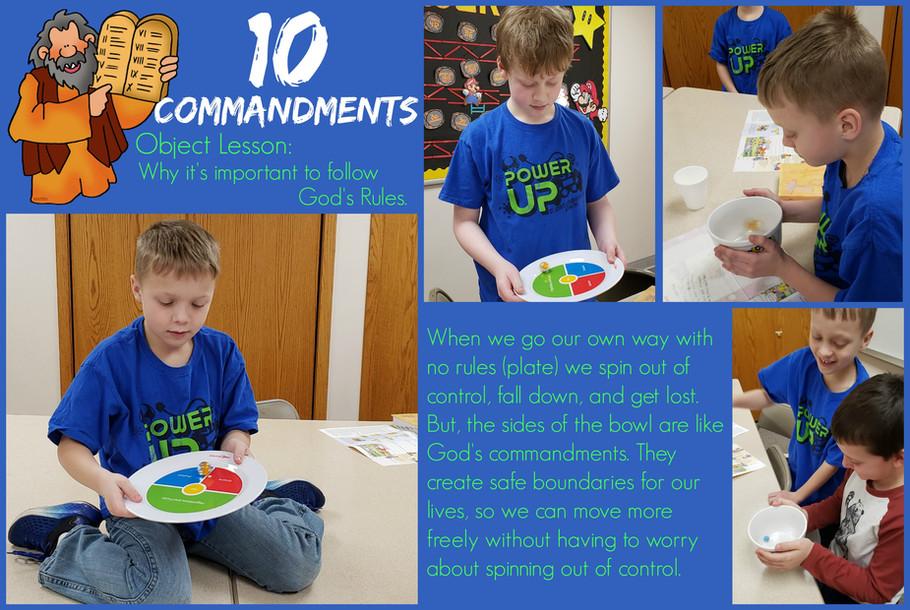 10 Commandments Object Lesson