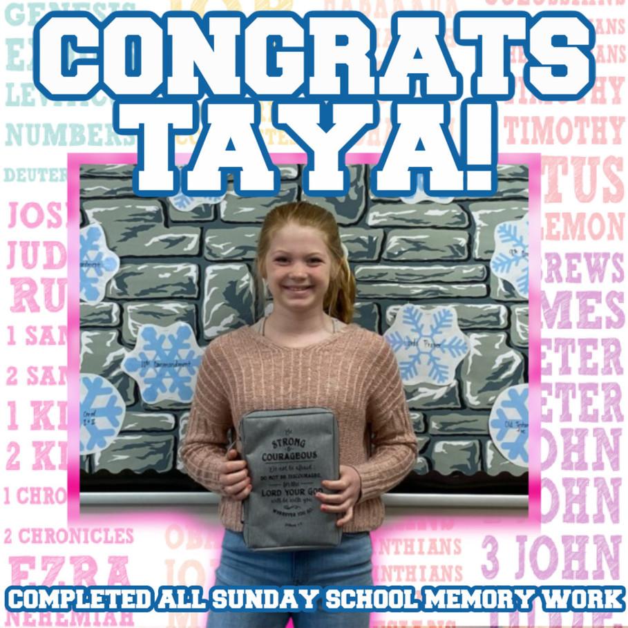 Congrats Taya
