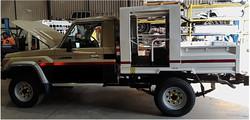 Underground mining vehicle