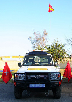 Explosives carrying vehicle