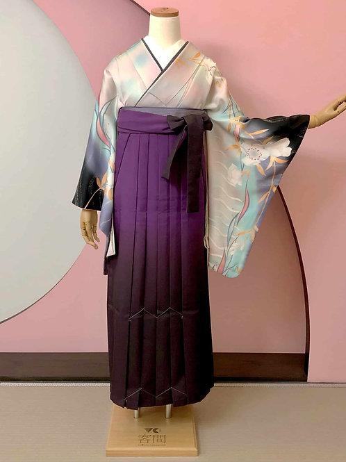 桜文様ぼかし染めお着物&袴