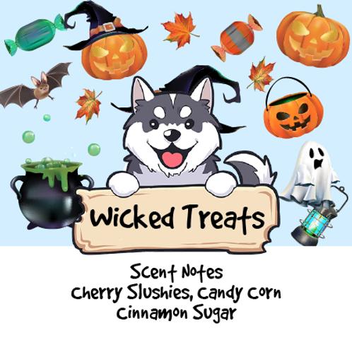 Wicked Treats-Cherry Slushies + Candy Corn + Cinnamon Sugar