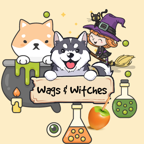Wags & Witches - Candied Green Apples + Candy Corn + Toasted Marshmallow