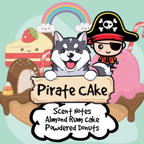 Pirate Cake - Almond Cake + Powdered Donuts