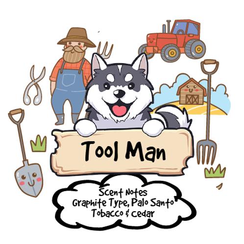 Tool Man - Graphite Type + Palo Santo + Cedar