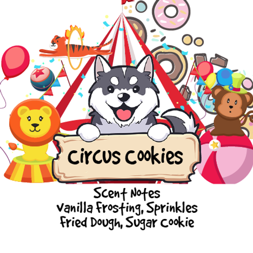 Circus Cookies- Vanilla Frosting + Sugary Animal Cookie + Sprinkles +Fried Dough