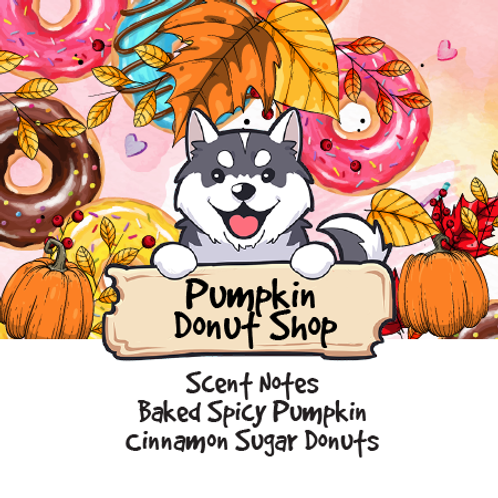 Pumpkin Donut Shop - Baked Spicy Pumpkin + Cinnamon Sugar Donuts