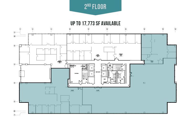 2nd Floor - Up To 17,773 SF