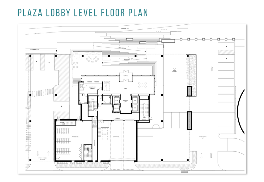 Plaza Lobby Level Floor Plan