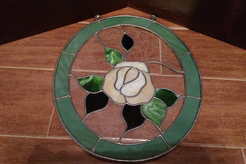 Beautiful Oval Flower Stained Glass