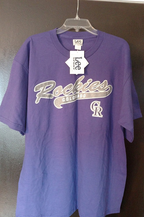 New Mens XL Colorado Rockies Tee Shirt
