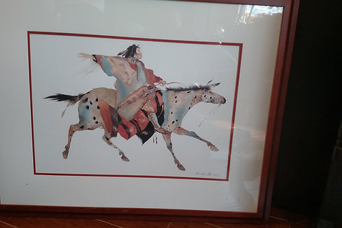 Beautiful Carol Grigg Indian Horse Framed Picture