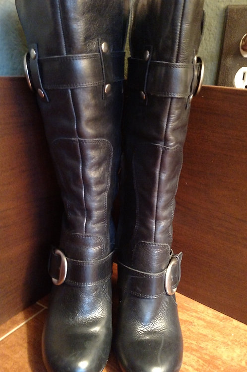 Nice Arturochiang Black Leather Women's Boots Size 7.5