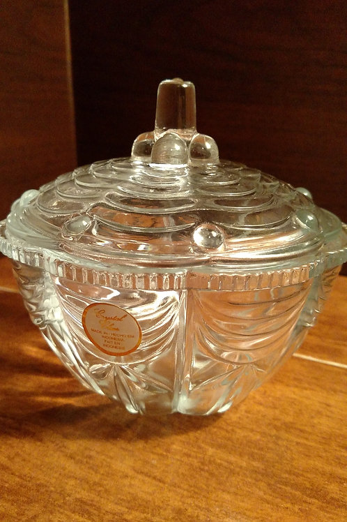 Nice Crystal Clear Small Decorative Bowl With Lid