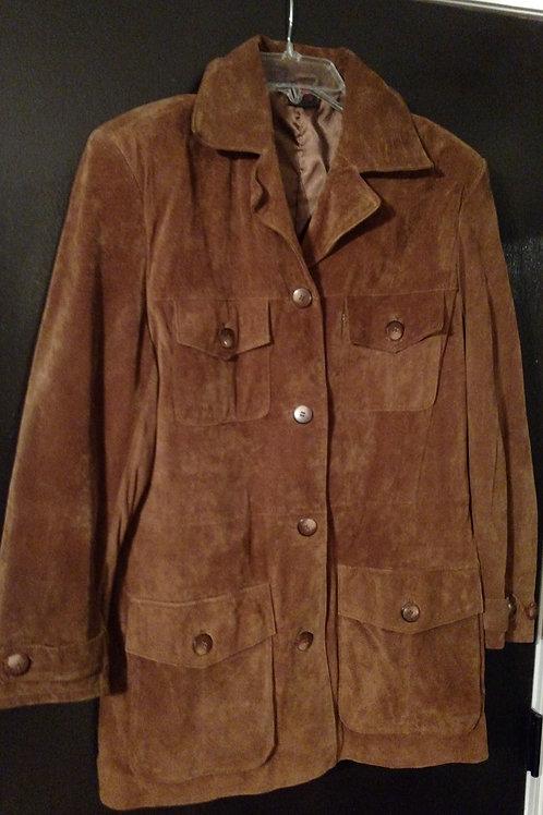 Beautiful Brown Virginia Slim Vintage Pig Suede Jacket Size M