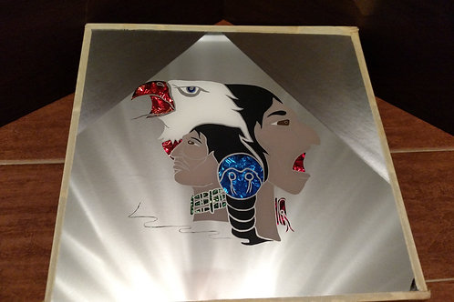 Unique Indian & Eagle Mirror Art
