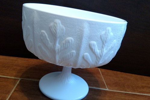 Vintage White Milk Glass Candy Dish