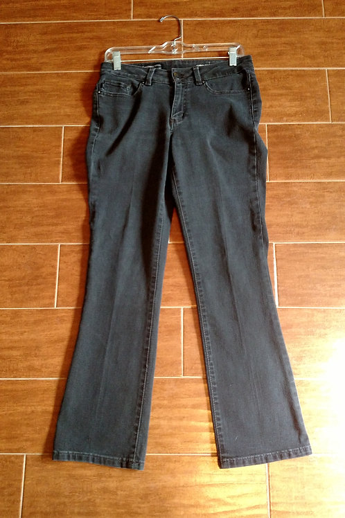 Nice Lee Modern Series Curvy Fit Bootcut Black Jeans Size 6 Short